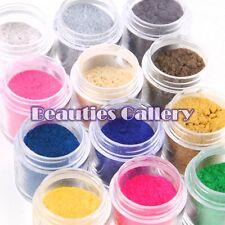12 Color Jumbo size Velvet Flocking Powder Velvet Nail Art Polish Tips