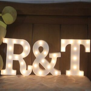 Image is loading Marquee-Sign-Party-Decor-L&-LED-Night-Light- & Marquee Sign Party Decor Lamp LED Night Light Letters Pattern ...