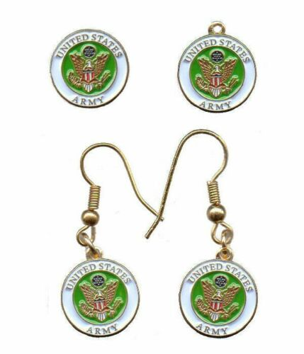 """earrings charm pin set *Cassie/'s Military Pins US Navy 1//2/"""" round emblem"""