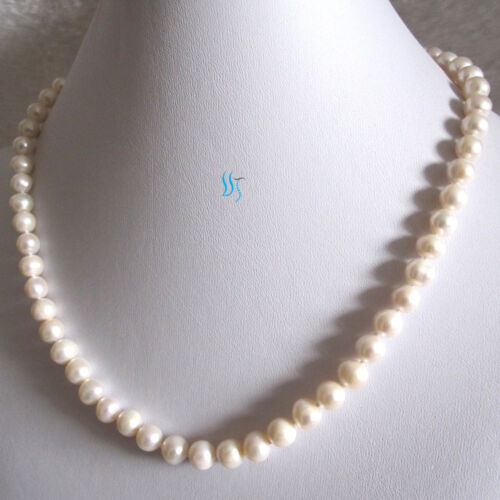 """18/"""" 6-8mm White AA Freshwater Pearl Necklace L"""