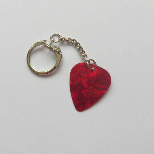 Famous Gold printed signature guitar pick plectrum Key chain keyring Carlos Sa