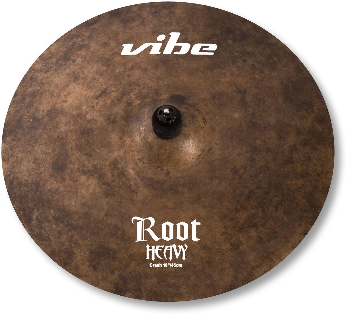 18  Vibe Root Heavy Crash Becken Cymbal B20 mit Zertifikat handgehämmert