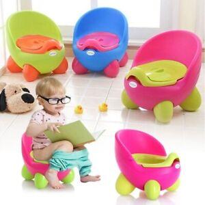 Pot-fauteuil-Baby-Potty-Children-039-s-Pot-Amovible-facile-a-nettoyer