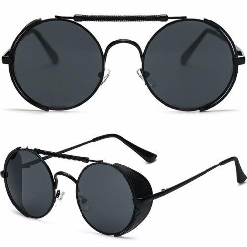 NEU Unisex Rund Steampunk Brillen Blinder Sonnenbrille VTG