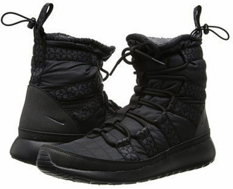 Women's Rosherun Hi Sneakerboot black anthracite 615968 006 sz 6