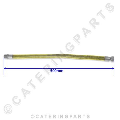 """1//2/"""" MALE TO FEMALE 0.5m 500mm FLEXIBLE GAS RING HOB CONNECTING FLEXIBLE HOSE"""