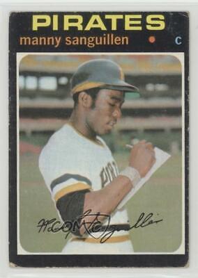 1971 Topps #480 Manny Sanguillen Pirates VG//EX