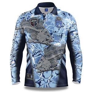 NSW Blues SOO NRL 2021 Skeletor Fishing Polo T Shirt Sizes S-5XL!