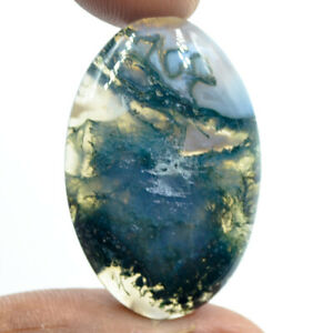 Cts-31-15-Natural-Green-Moss-Agate-Cabochon-Oval-Cab-Loose-Gemstones