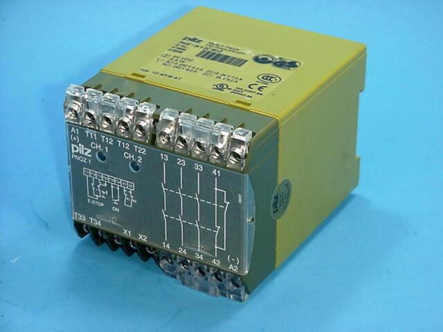 475695 Used Pilz PNOZ 1 24 VDC 3S1O Safety Relay,