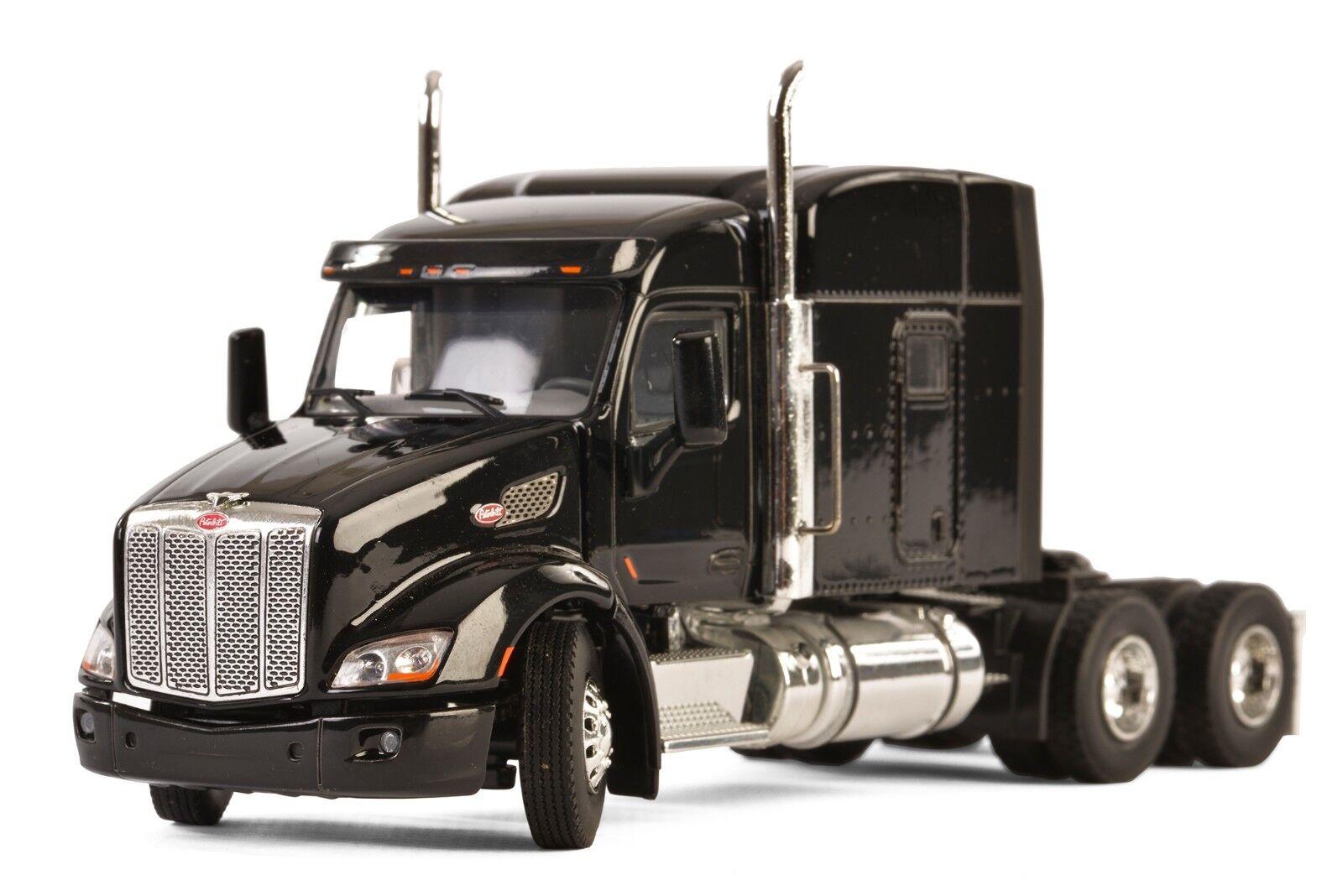 NEW WSI 33-2026 PETERBILT 579 3-Axle TRACTEUR AVEC PLATEAU-HAUTEUR-NOIR 1 50 Comme neuf IN BOX