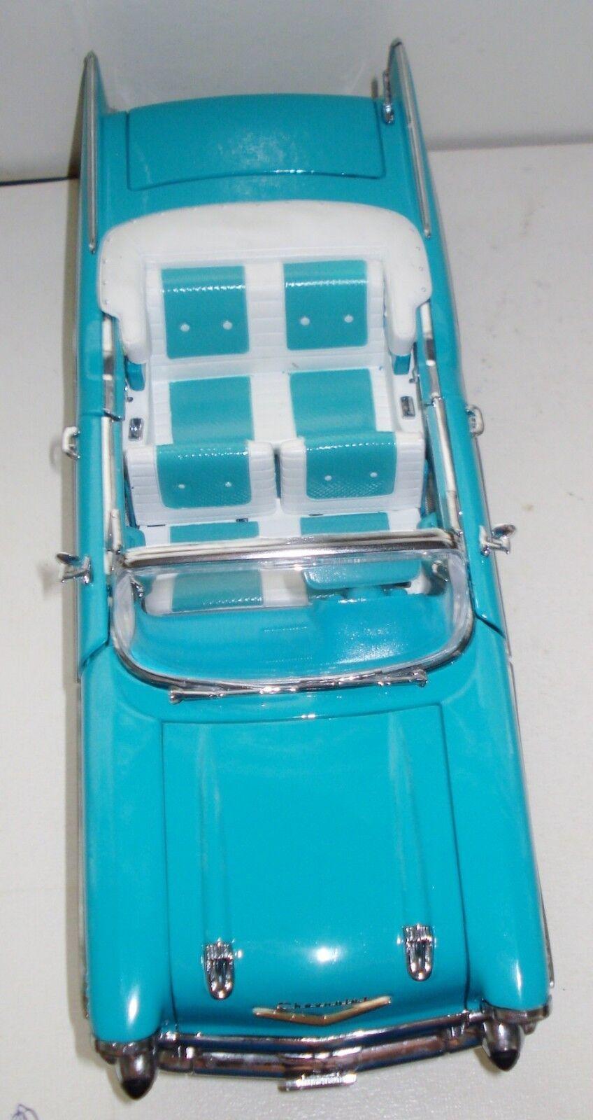VINTAGE CROWN CROWN CROWN PREMIUMS DIE CAST 1957 CHEVY BEL AIR CAR L.EDITION SCALE 1 24 NR 555b2f