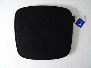 Orig-Hey-Sign-Doppel-Sitzauflage-Filz-35-x-37-cm-schwarz