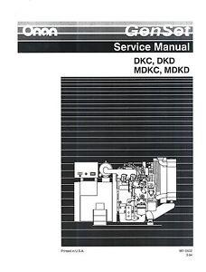 Onan maj specs a-s marine genset illustrated parts list manual 933.
