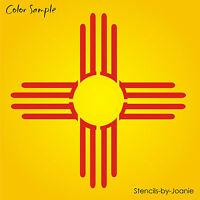 10 Zia Sun Stencil Southwest Mexico Desert Light Symbol Country Cabin Art