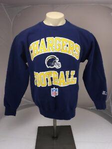 23e912bee Vintage 90s Starter SD LA CHARGERS blue Crewneck Spellout Sweatshirt ...