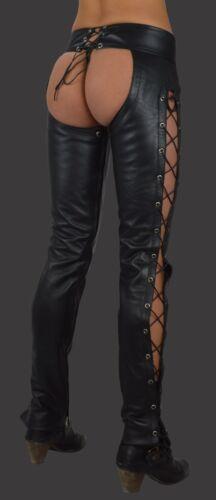 cuir Damen N tuyau en Lederchaps lederhose Aw cuir Chaps Cuir pantalon 801 en cuir 517nTTv