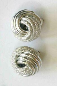 Vintage 1970s SilverBlack WaveSwirl Tie Clip