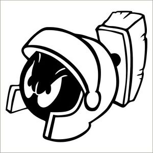 marvin martian decal sticker choose color size looney toons