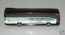 """Wiking H0 1:87 Mercedes O 404 RHD Mannschaftsbus """"SV Werder Bremen"""" o.VP (ST81)"""