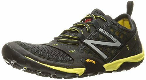 Balance Men's MT10V1 Minimus Trail Running shoes, Grey Yellow, 12 D US