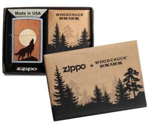 ZIPPO-Woodchuck-Wolf-Emblem-beidseitig-Feuerzeug-Neuheit-2020-60004939