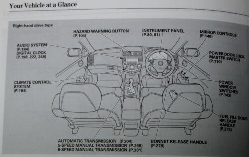 Honda Accord Tourer 7 Gen Manuel Owners Manual Wallet 2003–2008 Pack G-479!