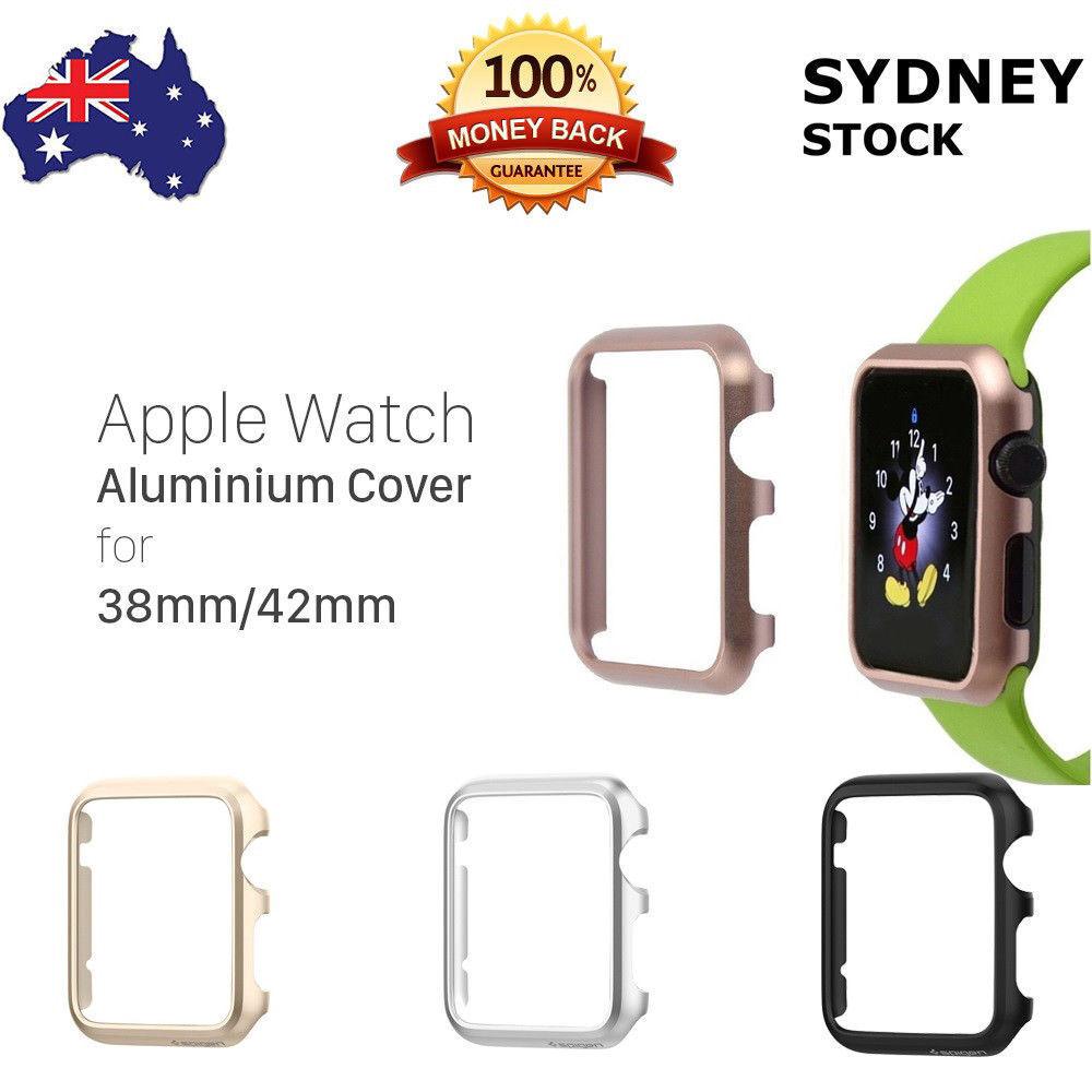 Pour Apple Watch Case S3 S2 S1 Gex Couverture blindée robuste en aluminium pour 38 / 42mm
