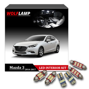 Details About 8pcs Super Bright White Canbus Kit Led Interior Car Light For 2017 Mazda 3