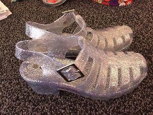 Zapatos de chicas Silver Glitter Jelly