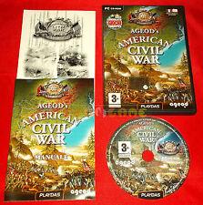 AGEOD'S AMERICAN CIVIL WAR Pc Versione Italiana 1ª Edizione ○○ COMPLETO - ER