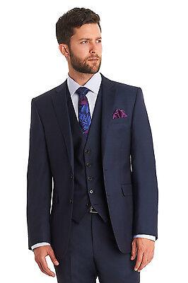 Lanificio F.lli Cerruti Dal 1881 Mens Blue Suit Jacket Tailored Fit Wool Blazer
