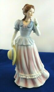 Antique-Royal-Dresden-Germany-Meissen-Porcelain-Lady-With-Hat-Figurine-Statue-8-034