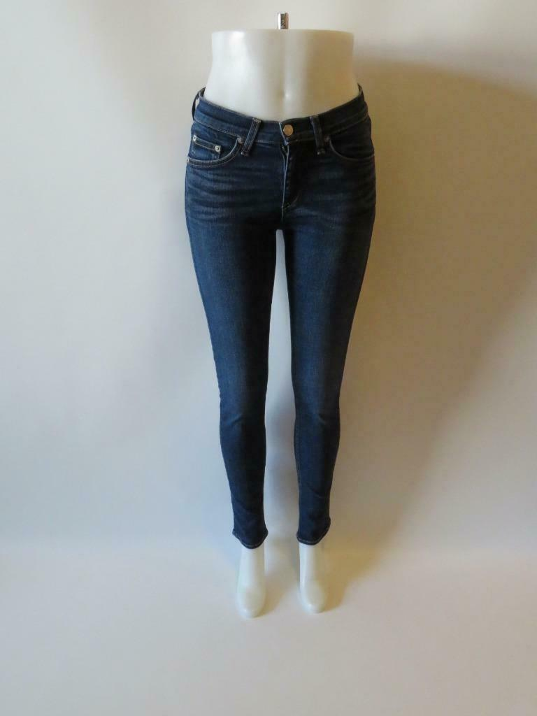 damen RAG & BONE 'WOODFORD' Blau DENIM HIGH RISE SKINNY JEANS SZ  27