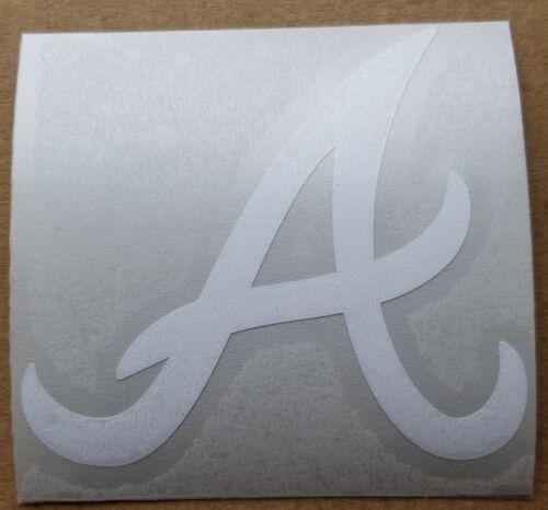 "Atlanta Braves A  3/"" White or Blue Vinyl Decal Truck Car Window"