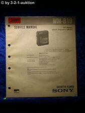 Sony Service Manual WM B19 Cassette Player (#2091)