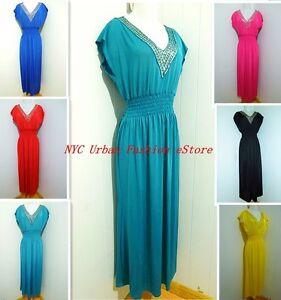 Deep V Neck KIMONO MAXI Long Full Length Sequin Evening Gown Dress Chic Sundress