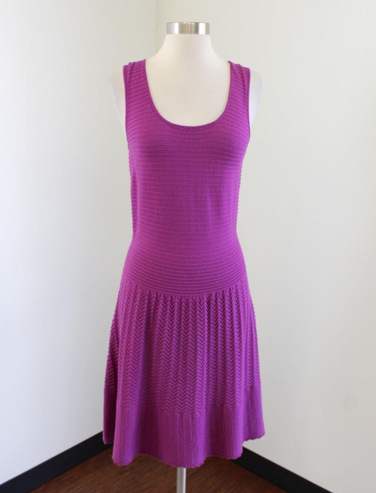 NWT Lilly Pulitzer Womens Purple Jezebel Sweater Dress Merino Wool Size M