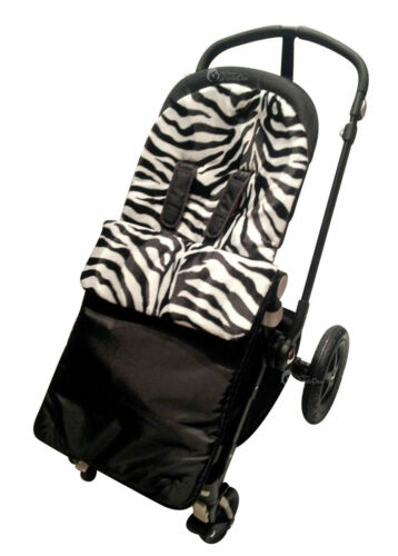 Animal Print Padded Footmuff Cosy Toes Compatible with Silver Cross Zebra