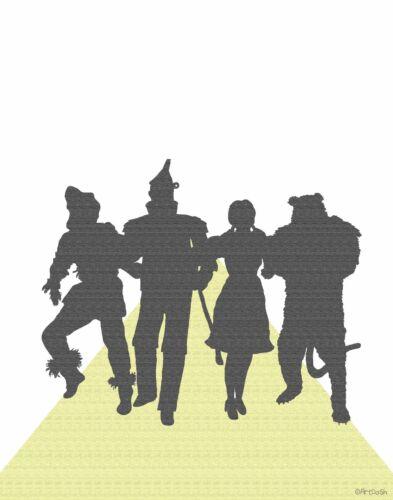 Pop Art Silhouette Print YELLOW BRICK ROAD Wizard of Oz Dorothy Decoration Gift