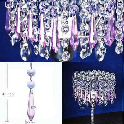 Colorful Crystal Glass Chandelier Lighting Lamp Part Drop Prisms Pendants Decor