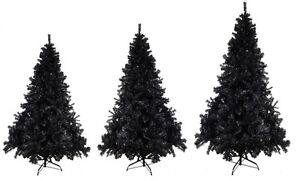 Luxury 7ft 8ft 9ft Black Artificial Xmas Christmas Trees Sale 180