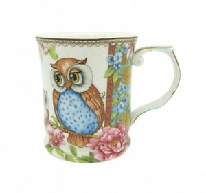 Owls-415cc-Owl-Mug-Tea-Coffee-Cup-Fine-Bone-China-Birthday-Xmas-Gift
