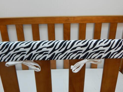 Cot Rail Cover Crib Teething Pad x 1 Animal Print Zebra