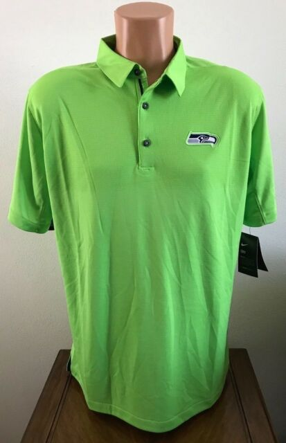 Mens Size 2XL XXL Lime Green Nike Polo Shirt NFL Seattle Seahawks Dri-FIT 33c7ebcbf