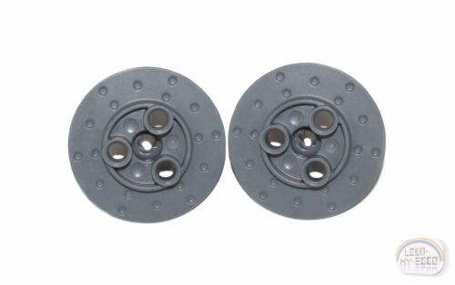 New - DBG 2 x Steering Wheel Hub LEGO Technic 3 Pin Holes 35189