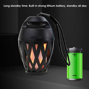 Haut-Parleur Bluetooth Sans Fil DEL Flamme Lampe stéréo lecteur musique Outdoor Bor
