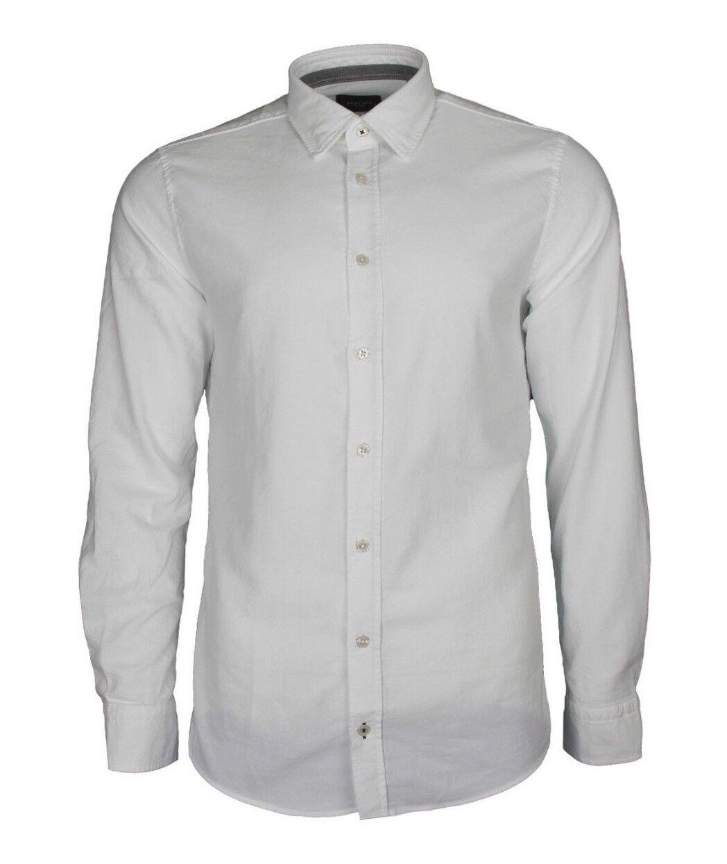 JOOP  Jeans - Hanson Herrenhemd - Hemd aus Oxford - Weiß Gr. L