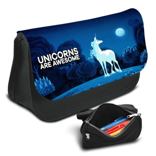 Unicorn Pencil Case Game School Bag Kids Stationary 48