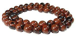 Mahagoni-Obsidian-Perlen-Kugeln-8-mm-braun-schwarz-gemasert-rounds-beads